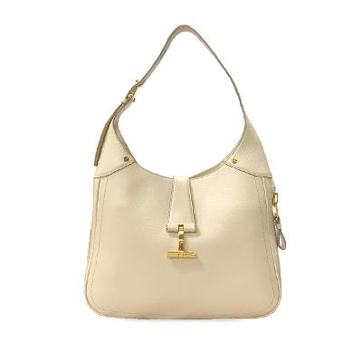 jackie soft hobo bag white